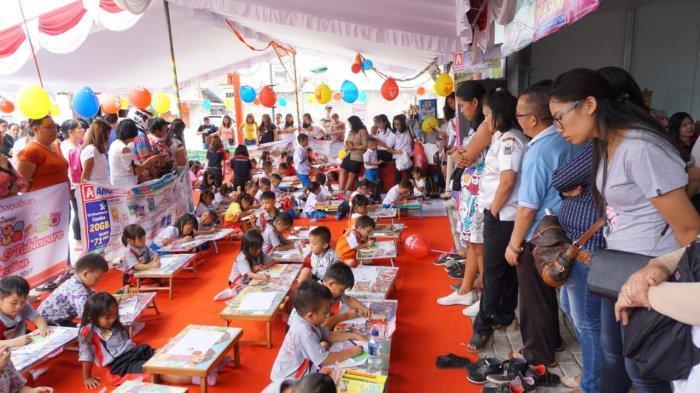 Alfamidi Dorong Kreativitas Anak, Gelar Lomba Mewarnai diKota Ini!