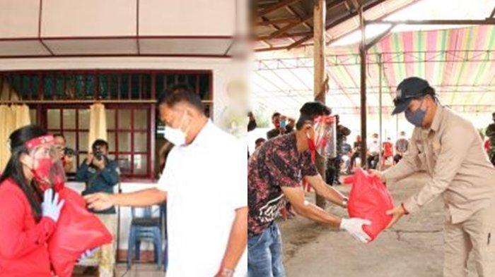 Gubernur Olly dan Wagub Kandouw Bagikan 391 Paket Sembako Untuk Warga di Minahasa