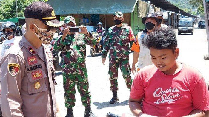 Razia Penggunaan Masker di Kota Bitung, Warga tak Pakai Masker Jadi Tontonan