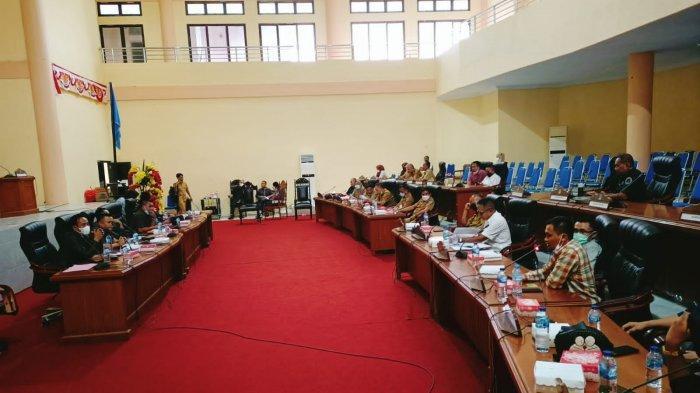 Suasana RDP di DPRD Bolmong