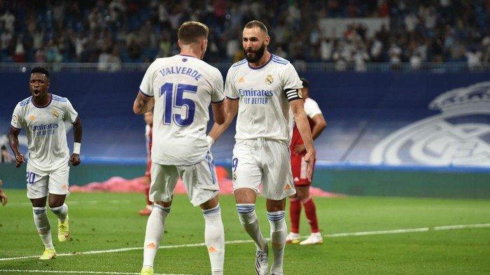 Hasil Real Madrid vs Celta Vigo: Los Blancos Menang 5-2, Benzema Hattrick, Camavinga Debut Bikin Gol