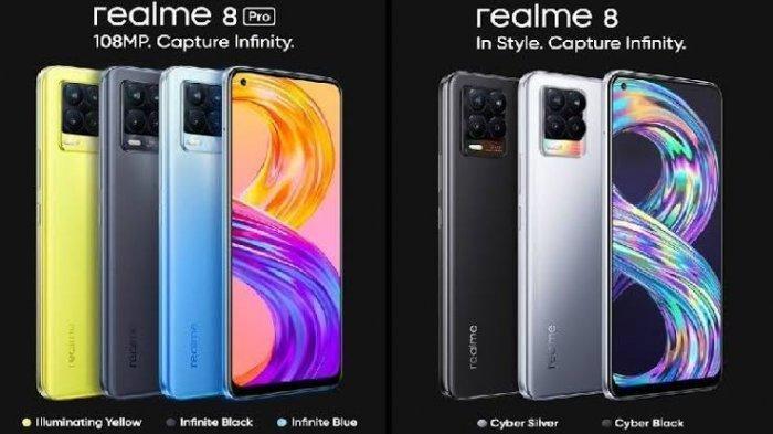 Segera Dijual di Indonesia, Ini Perbandingan Spesifikasi dan Harga Realme 8 Serta Realme 8 Pro