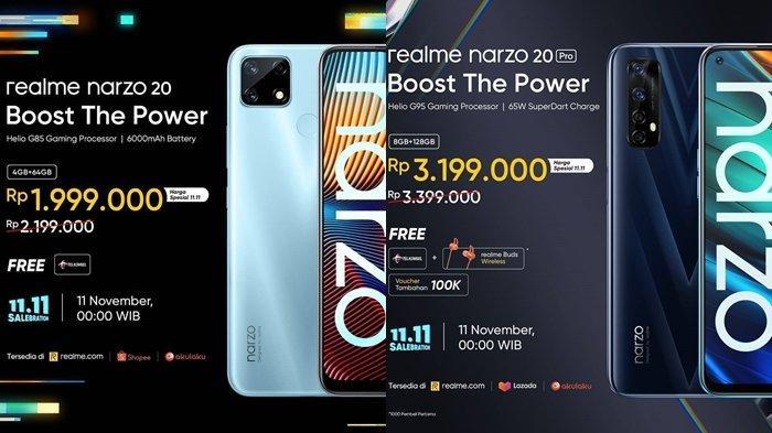 TERBARU, Ponsel Realme Narzo 20 Pro, Rilis di Indonesia Dijual Rp 3,2 Jutaan, Ini Spesifikasinya
