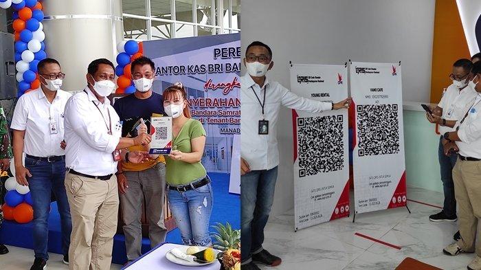 BRI Digitalisasi Pelaku Usaha di Bandara Samrat Manado, Pedagang dan Rental Mobil Pakai QRIS BRI