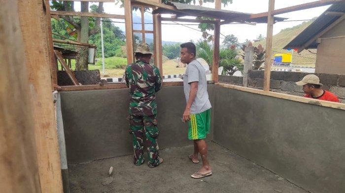 Barnabas Mengaku Bahagia, Rumahnya Jadi Sasaran Karya Bakti Rehabilitasi RTLH