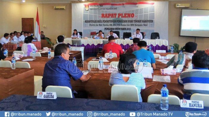 Rekapitulasi Hasil Pemilu Tingkat Kabupaten Sitaro Usai, PPK Lega