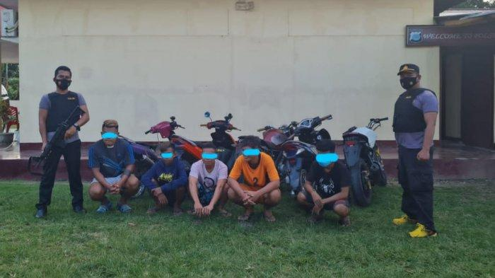 Polsek Beo Talaud Amankan Sejumlah Remaja Terlibat Balapan Liar