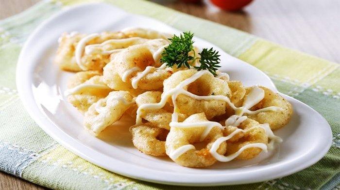 Resep Seafood Cumi Goreng Saus Mayo Lemon, Cocok Disantap Saat Sahur