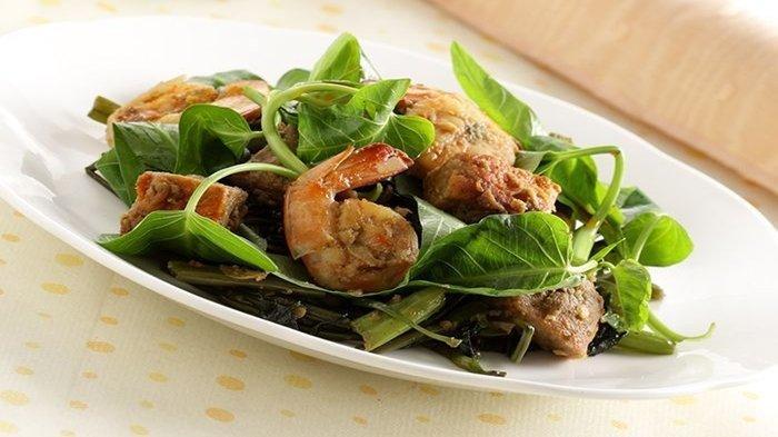 Resep Menu Makan Siang Praktis: Kangkung Cah Bumbu Hijau