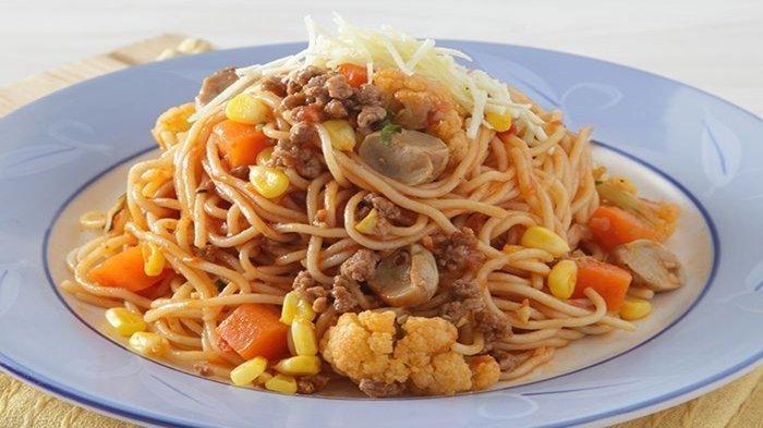 Resep Sarapan Praktis dan Spesial: Spaghetti Siram Saus Daging