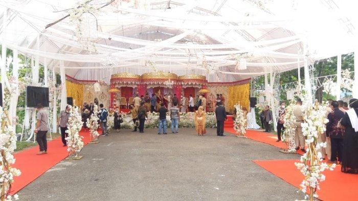 Resepsi Pernikahan Cherish Harriete Mokoagow Anggota DPD RI Terapkan Prokes Covid-19