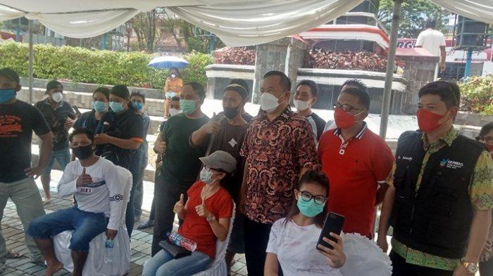 Sehari 6.000 Orang Divaksin, Wawali Richard Sualang Optimistis Vaksinasi Manado Tuntas Desember 2021