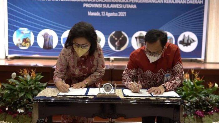 Rita Tamuntuan Ketua Dekranasda Sulut Teken Kerja Sama UMKM dengan Bank Indonesia