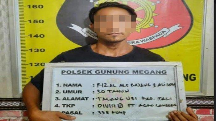 Rizal (30) menghabisi nyawa istrinya,Yeti Septarini (26) di <a href='https://manado.tribunnews.com/tag/talang-ubi' title='TalangUbi'>TalangUbi</a> <a href='https://manado.tribunnews.com/tag/kabupaten-pali' title='KabupatenPali'>KabupatenPali</a>.