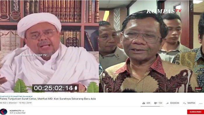 Viral di Medsos, Kejanggalan Surat Pencekalan Habib Rizieq Diungkap Menko Polhukam