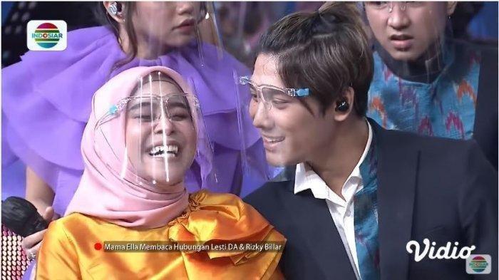 FOTO Rizky Billar dan Lesti Kejora dalam acara 'Semarak Indosiar'.