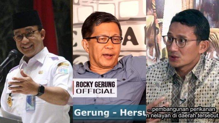 Rocky Gerung Sebut Jokowi Puji Sandi Untuk Gagalkan Anies: Orang Tahu Itu Permainan Ecek-eceklah