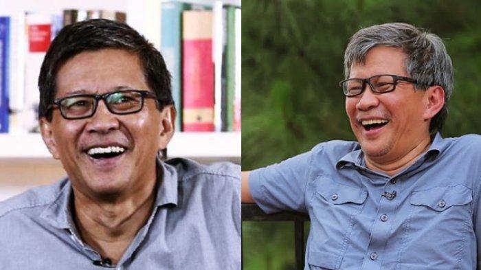 Rocky Gerung Tertawa Dilabrak Guru Besar Universitas Airlangga (Kolase Tribun Manado/Foto: Istimewa)