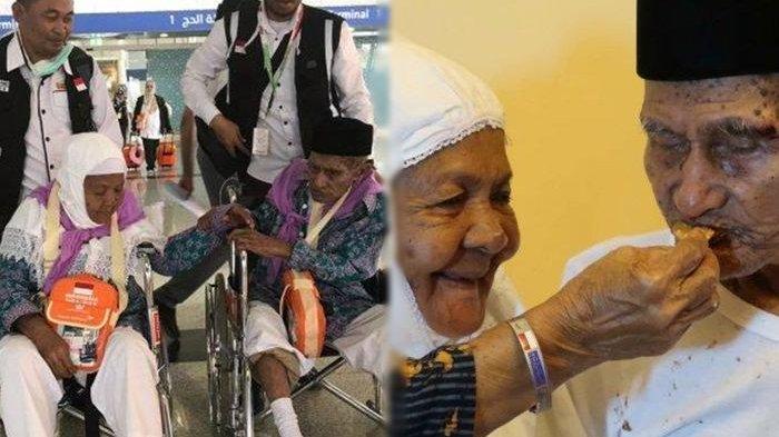 Romantisme Kakek Mahmud & Nenek Kalsum di Tanah Suci, Ngomel Tak Mau Pisah Hingga Ceria saat Disuapi
