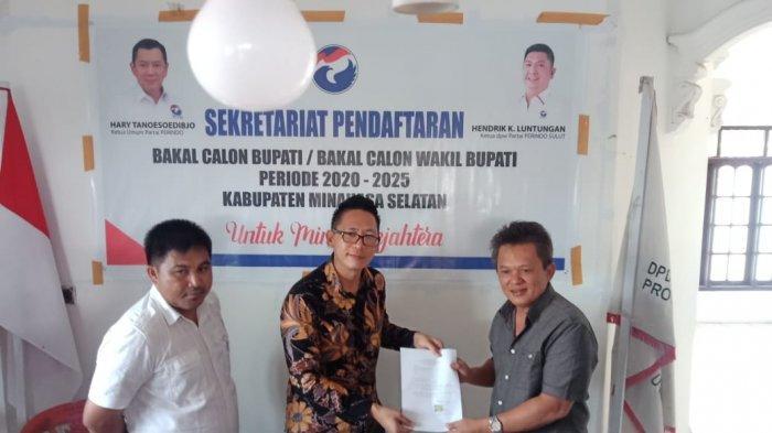 Royke Sondakh Mendaftar Bakal Calon Bupati Ke Partai Perindo pada Pilkada Minsel 2020