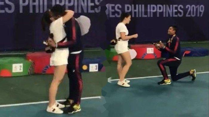 Ruben Gonzales Atlet Tenis Filipina Melamar Kekasihnya saat Upacara Pemberian Medali SEA Games 2019