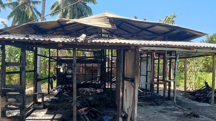 Kebakaran di Boltim, Mito Mokodompit Pasrah Melihat Rumahnya Ludes Tinggal Puing