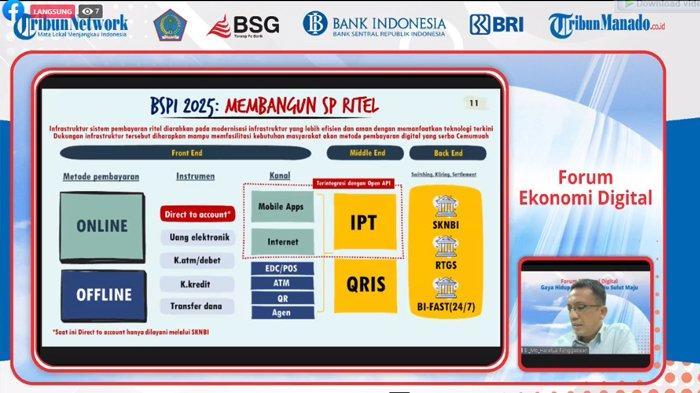 Live Streaming Forum Ekonomi Digital di YouTube dan Facebook Tribun Manado