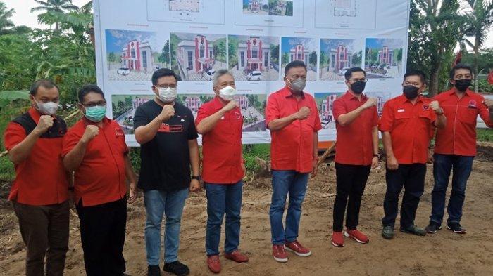 Olly Letakkan Batu Pertama Kantor PDI Perjuangan Minut, Bakal Diresmikan Megawati