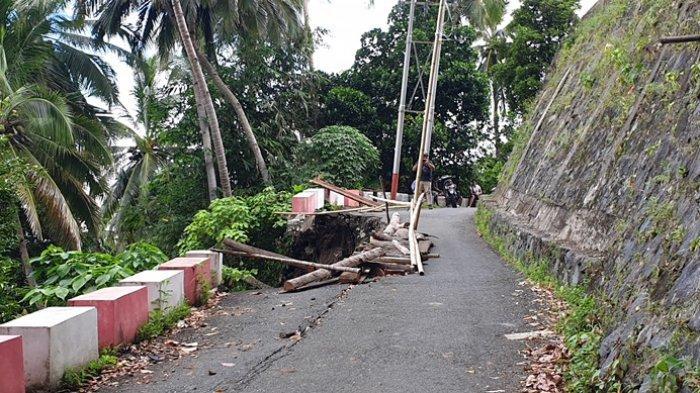 Warga Siau Timur Utara Minta Perbaikan Jalan Rusak Akibat Bencana
