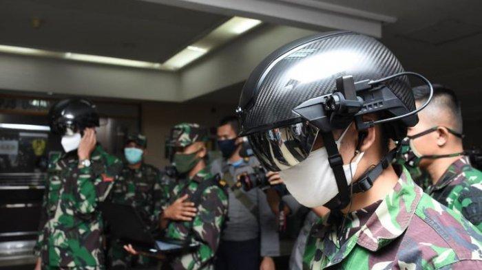 TNI AD Gunakan Helmet Canggih Antisipasi Covid-19, Bisa Deteksi Suhu Tubuh Dari Jarak 10 Meter