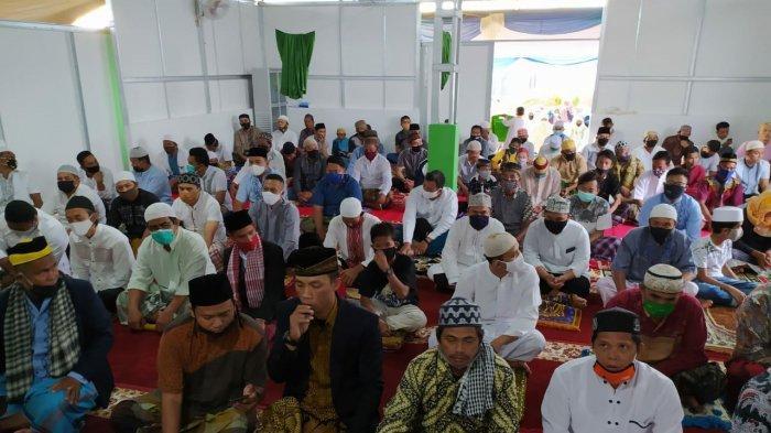 Salat Ied Idul Adha di Masjid Baitul Khoir GPI Maanget Manado, Jumat 31 Juli 2020.