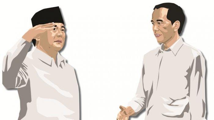 Begini Ucapan Prabowo saat Ditanya Pertemuannya dengan Jokowi