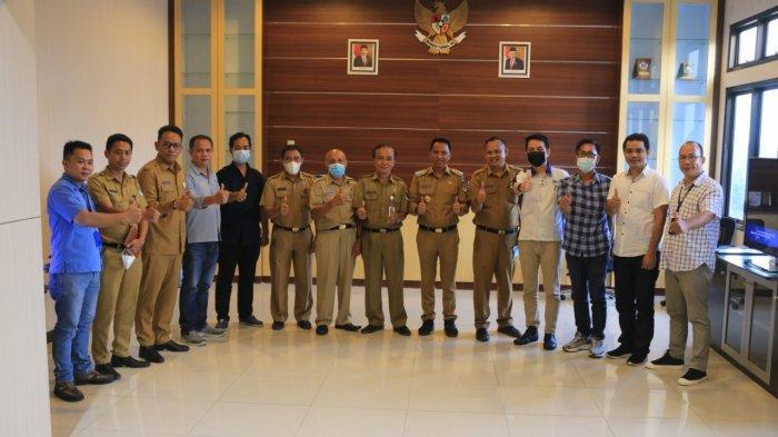 Manajemen Tribun Manado Silaturahmi dengan Bupati Boltim Sachrul Mamonto