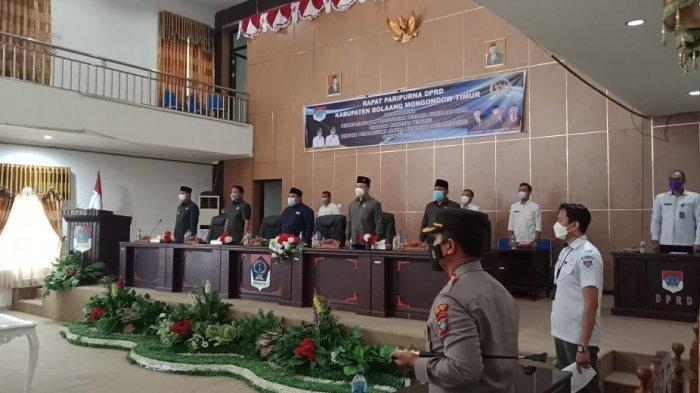 Bupati Boltim Sachrul Mamonto Hadiri Paripurna DPRD Terkait RPJMD