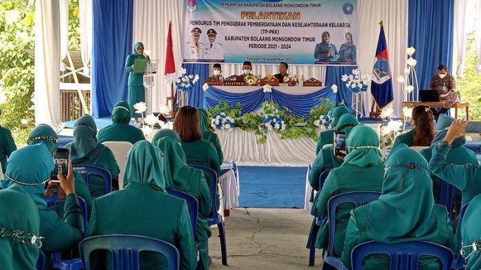 Bupati Sam Sachrul Mamonto Lantik TP PKK Kabupaten Boltim Periode 2021 - 2024