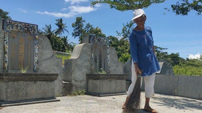 Sosok Nenek Sumiyem Penyapu Komplek Pekuburan Tionghoa, Pernah Dibayar Rp 5 Ribu