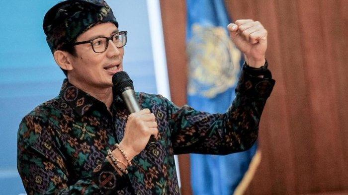 Menteri Pariwisata dan Ekonomi Kreatif Sandiaga Salahuddin Uno
