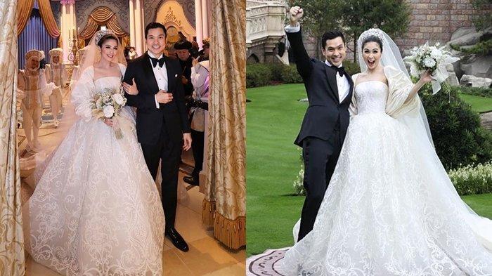 Sandra Dewi dan Harvey Moeis saat menikah