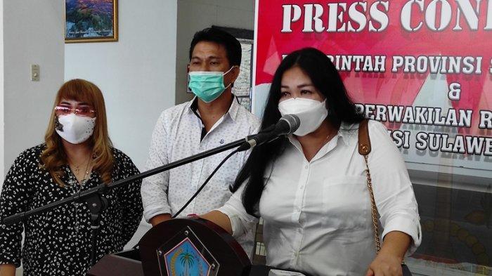 Ketua Badan Kehormatan DPRD Sulut, Sandra Rondonuwu memberikan keterangan kepada media usai meminta klarifikasi Michaela Elsiana Paruntu di gedung Deprov Sulut, Rabu (03/02/2021).