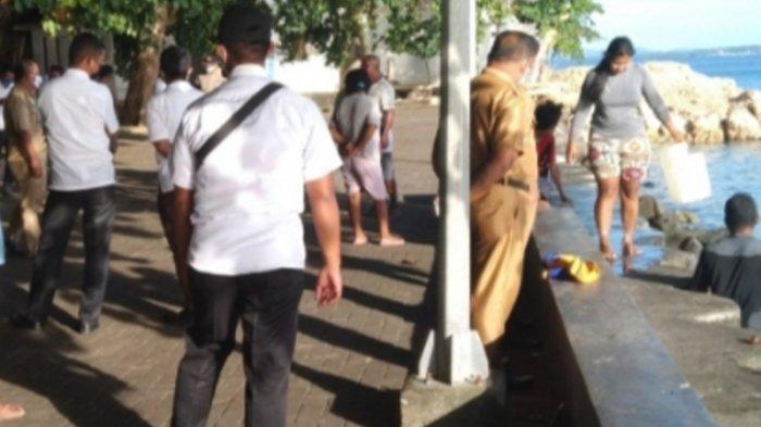 Sat Pol PP Talaud Tertibkan Sejumlah Pedagang Ikan di Lokasi Wisata