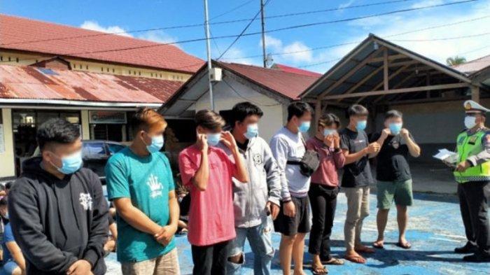 61 Anak Muda di Minahasa Diamankan Polisi Karena Balap Liar, 6 Diantaranya Perempuan