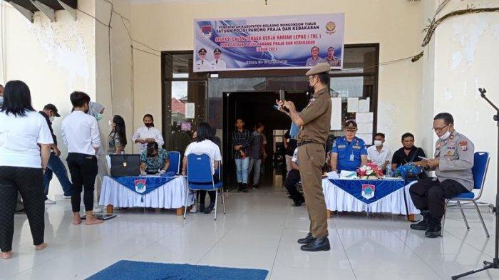Dari 119 Pendaftar Satpol PP Kabupaten Boltim, hanya 65 yang Dapat SK Bupati
