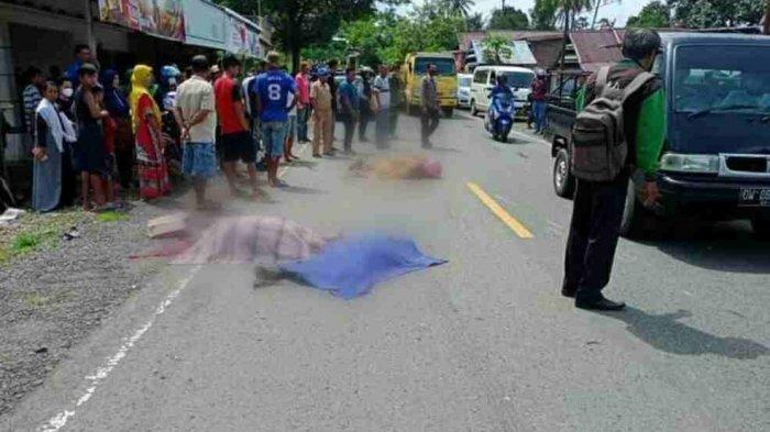 Kecelakaan Maut Tadi Siang Pukul 11.30 Wita, Suami Istri dan Anak Tewas Seketika, Korban Tabrak Lari