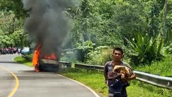 BREAKING NEWSMobil Bermuatan Tabung LPG Terbakar di Tumuyu Bolmong, Pengemudi Lolos dari Maut