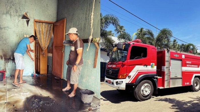 BREAKING NEWS, Satu Unit Kios di Pasar Tradisional Poyowa Kecil Terbakar