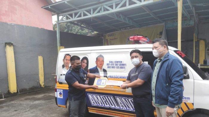 Gandeng HBL Foundation, Nasdem Mitra Sumbang Ambulance