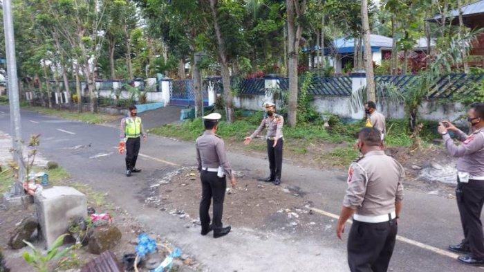 Olah TKP Kecelakaan Maut di Kota Bitung yang Menewaskan 4 Anak Sekolah