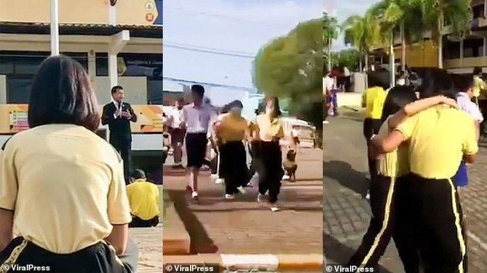 Kepsek SMP Acungkan Pistol Saat Upacara, Minta Maaf Sudah Tidur Dengan Siswi, Para Siswa Ketakutan