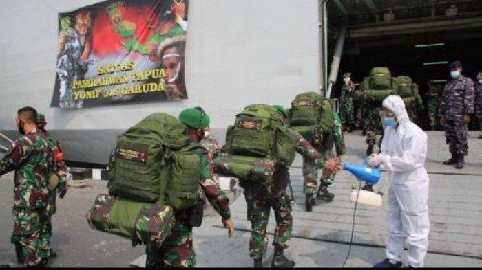 KKB Siap Ditumpas, 400 Anggota Pasukan Setan TNI Berangkat Menuju Papua, Naik KRI Banjarmasin 592