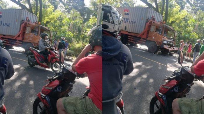 BREAKING NEWS Kecelakaan Lalu Lintas Sebabkan Macet di Jalan Ring Road Manado